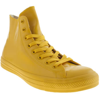 Converse Yellow Chuck Taylor Rubber Hi Trainers
