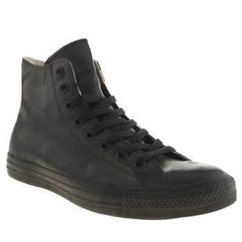 Mens Converse Black All Star Rubber Hi Trainers