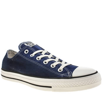 Converse Navy All Star Ox Sunset Wash Trainers