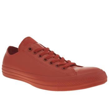Converse Red All Star Rubber Ox Mens Trainers