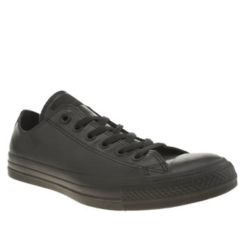 Converse Black All Star Rubber Ox Trainers