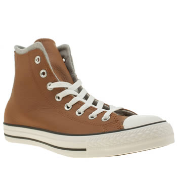 Converse Tan All Star Hi Leather/wool Trainers