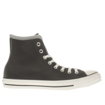 Converse Black All Star Hi Leather/wool Trainers