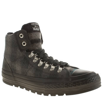 Converse Black & Grey Street Hiker Hi Wool Trainers