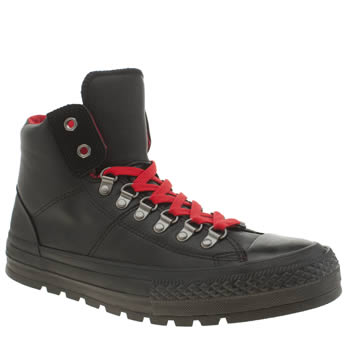 Converse Black & Red Chuck Taylor Street Hiker Hi Trainers