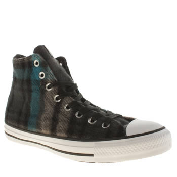 Converse Black and blue Ctas Hi Woolrich Trainers
