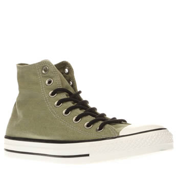 Converse Green All Star Hi Wash Trainers