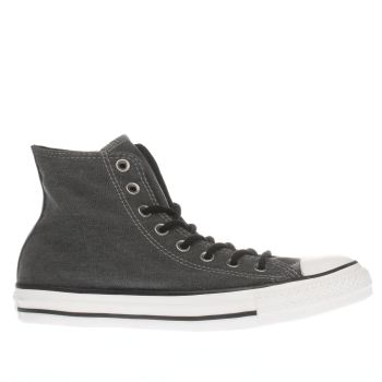 Converse Black Chuck Taylor All Star Hi Wash Trainers