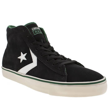 mens converse black & white pro vulc trainers