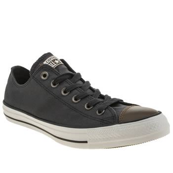 Mens Converse Navy All Star Waxed Canvas Oxford Trainers