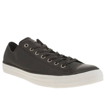 Mens Converse Black All Star Waxed Canvas Ox Trainers