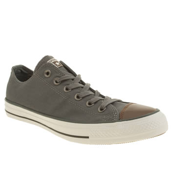 Mens Converse Grey All Star Waxed Canvas Oxford Trainers