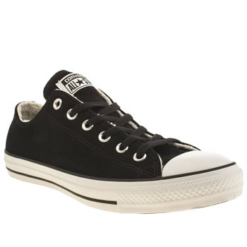 Mens Converse Black All Star Ox Shearling Suede Trainers