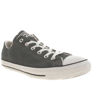 Mens Converse Grey Oxford Shearling Suede Trainers