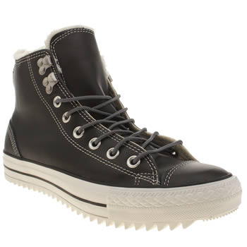 Converse Black All Star City Hiker Hi Trainers