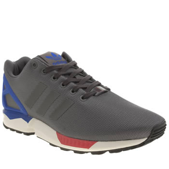 Adidas Grey Zx Flux Trainers