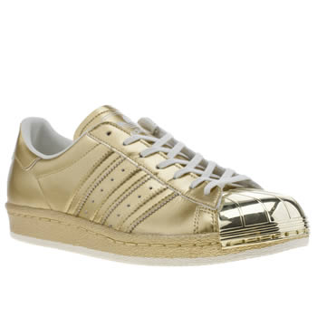Adidas Gold Superstar 80s Trainers