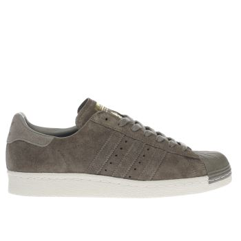 Adidas Khaki Superstar 80S Mens Trainers