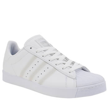 Adidas White Superstar Vulc Trainers