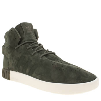 Mens Adidas Grey Tubular Invader Trainers