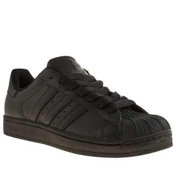Adidas Black Superstar Trainers