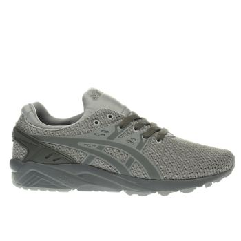 Asics Grey & Khaki Gel-kayano Evo Trainers