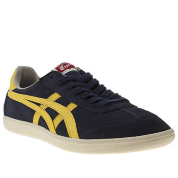 mens onitsuka tiger navy & white tokuten trainers