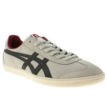 mens onitsuka tiger grey & black tokuten trainers