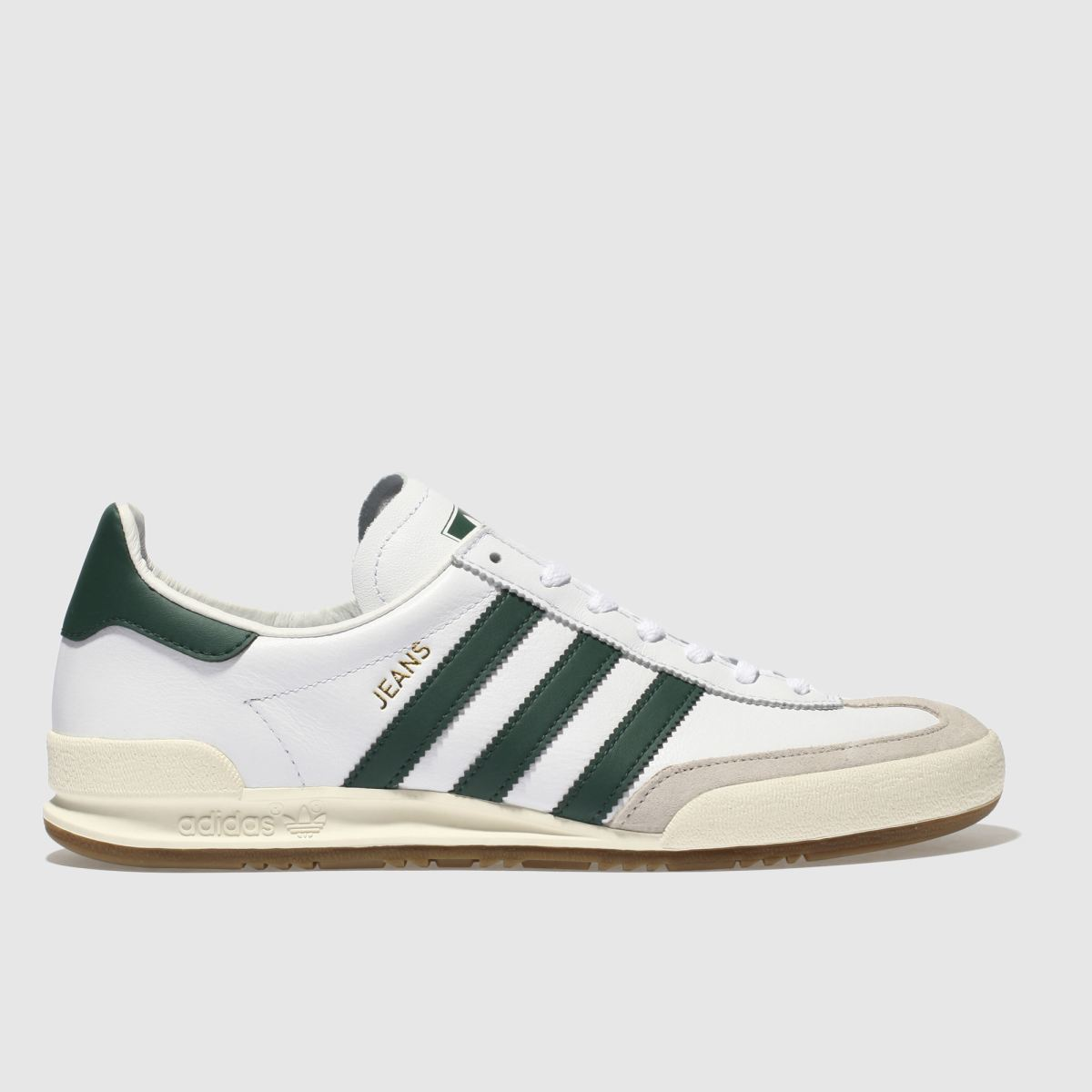 Adidas White & Green Jeans Trainers