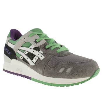 mens asics grey gel lyte iii trainers