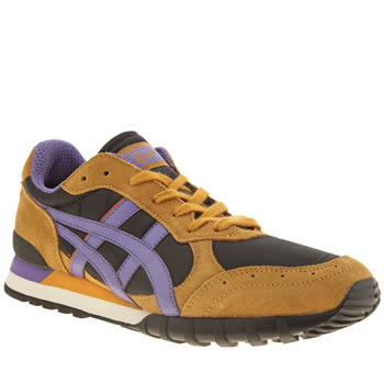 Mens Onitsuka Tiger Black & Brown Colorado 85 Trainers