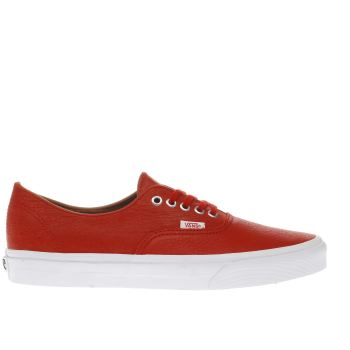 Vans Red Authentic Decon Mens Trainers