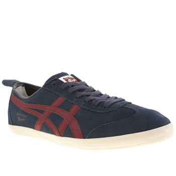 mens onitsuka tiger navy mexico 66 vulc trainers