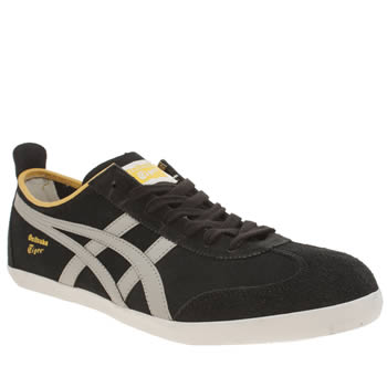 Mens Onitsuka Tiger Black & Silver Mexico 66 Vulc Trainers