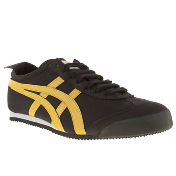 mens onitsuka tiger black mexico 66 trainers