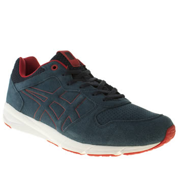 Mens Onitsuka Tiger Navy & Red Shaw Runner Trainers