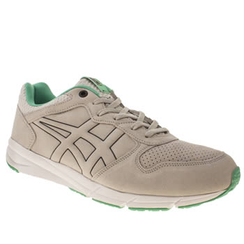 Mens Onitsuka Tiger Light Grey Shaw Runner Trainers