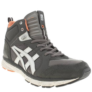 Mens Onitsuka Tiger Dark Grey Harandia Mt Trainers