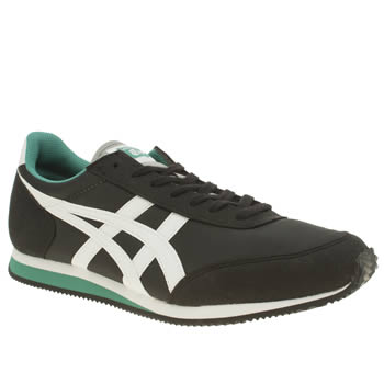 Mens Onitsuka Tiger Black & White Sakurada Trainers