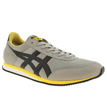 Mens Onitsuka Tiger Grey & Black Sakurada Trainers