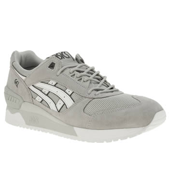 Asics Light Grey Gel-respector Trainers