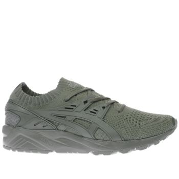 Asics Khaki Gel Kayano Knit Mens Trainers