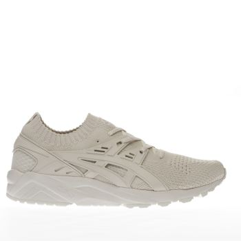 Asics Beige Gel Kayano Knit Mens Trainers