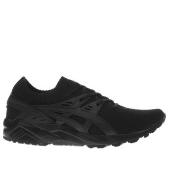 Asics Black Gel Kayano Knit Mens Trainers