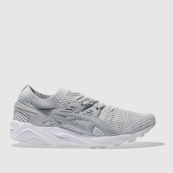 Asics Grey Gel-Kayano Knit Mens Trainers