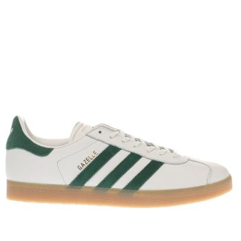 Adidas White & Green Gazelle Trainers