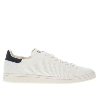 Adidas White & Navy Stan Smith Primeknit Trainers