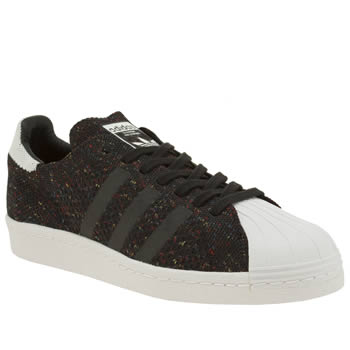 Adidas Black & White Superstar 80s Pack Primeknit Mens Trainers