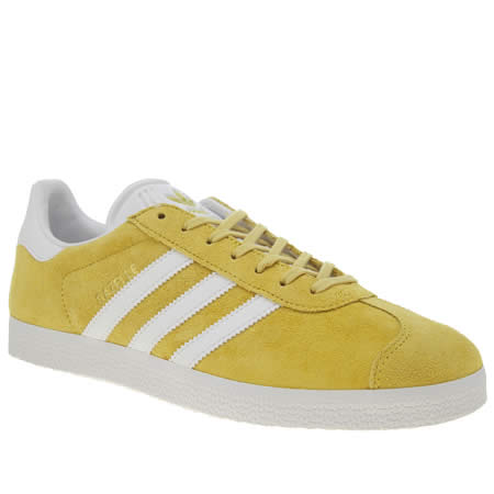 Adidas Yellow Gazelle Trainers