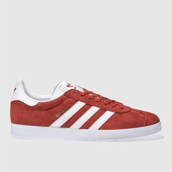 Mens Adidas Red Gazelle Trainers